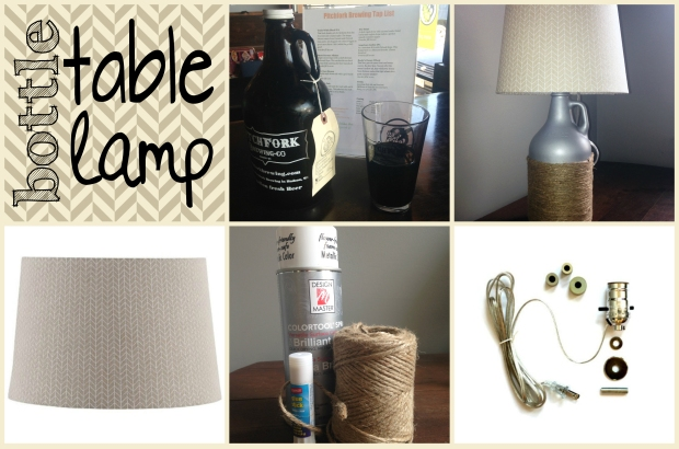 Make a table lamp from a glass bottle growler