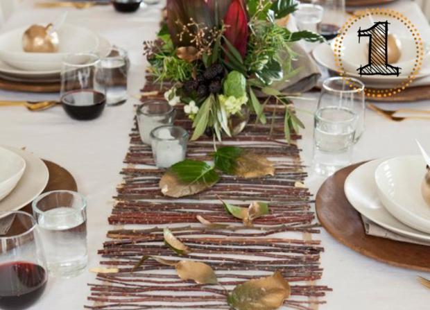 HGTV DIY Twig Table Runner