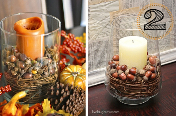 Pottery Barn-inspired fall centerpieces