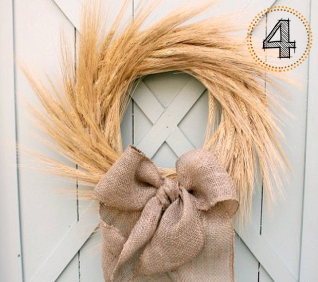 DIY Wheat Wreath - quick and easy