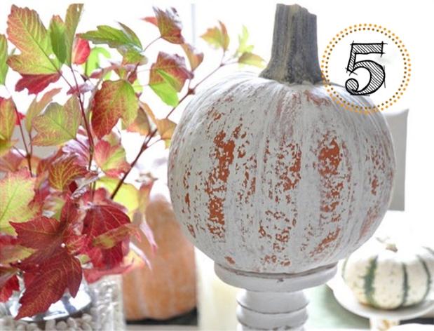 Chalk Paint Distressed Pumpkin